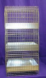 "24""X18""X38"" Cavy Condo 3 Hole (Not Shippable) Metal tray"